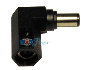 LC90B - Right Angle 90 Degree Connector Converter for Dell and HP Laptop Power Adapters